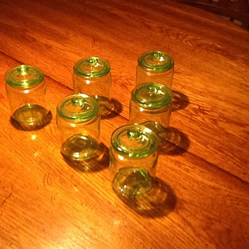 Depression Glass Apothecary Jars - Glassware