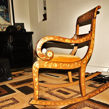 DISALVO AND BROTHER ANTIQUES 1860 CIRCA ROCKEN CHAIR DUTCH - Furniture