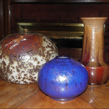 Art Pottery Crystalline Vases - Pottery