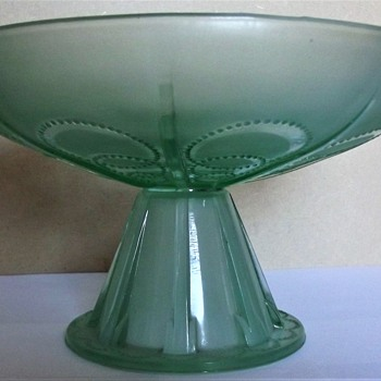 Pressed Glass Comport ..... Help - Art Deco