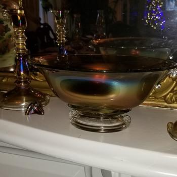 Vintage carnival glass - Glassware