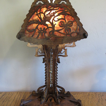 Amsterdam School Arts and Crafts style wood lamp revamp - Arts and Crafts