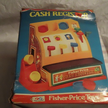 1975 FISH-PRICE TOY CASH REGISTER FACTORY SEAL AND MINT
