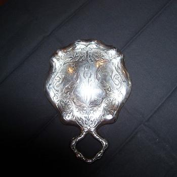 STERLING LADIES VANITY MIRROR - Silver