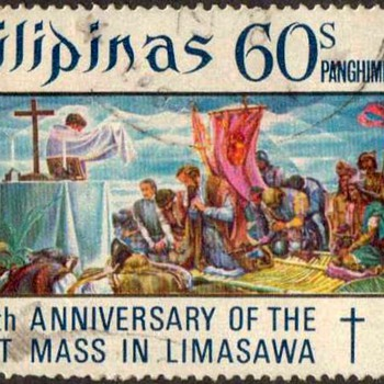 "1972 - Philippines ""First Mass"" Postage Stamp - Stamps"