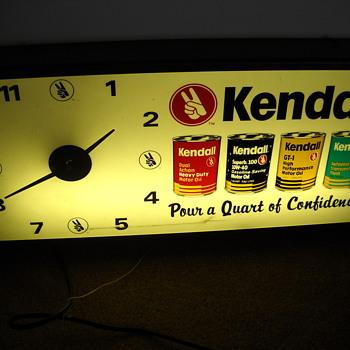 Kendall oil clock