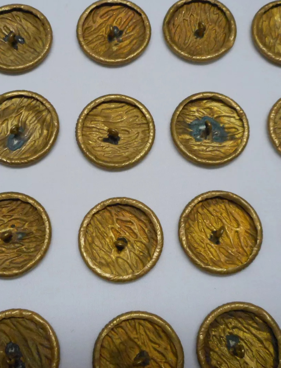 53 piece set of beautiful vintage gold buttons with no markings |  Collectors Weekly