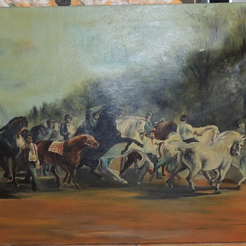 Large Oil Painting - Looking for help.   - Fine Art
