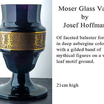 Moser Glass Vase by Josef Hoffman - Art Glass