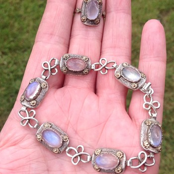 Bernard Instone Silver and Gold Moonstone  - Fine Jewelry