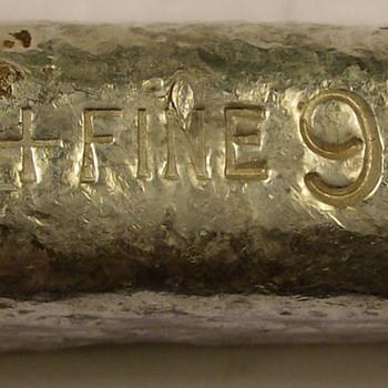 """Unknown"" Silver Refiner 9.93 ounces - Silver"