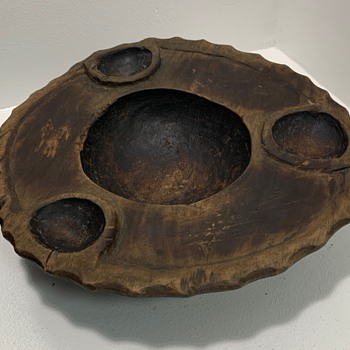Carved Wooden Bowl or Tray - Mystery
