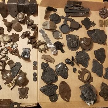 Assortment of antique trunk hardware  - Furniture