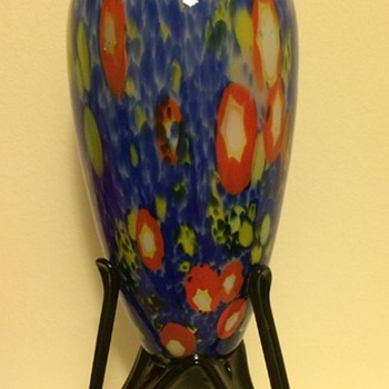 Kralik millefiori / canes pedestal / rocket foot vase - Art Glass