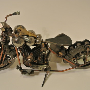 For blunderbuss2....as per your request....Harley Davidson Knuckle Metalwork....and look....Sonny Barger - Motorcycles