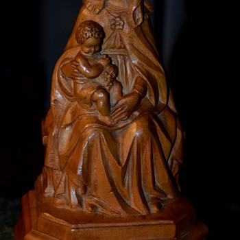 Carved Oak Virgin and Child - Fine Art