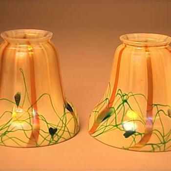 Steuben reactive glass shades - Art Glass