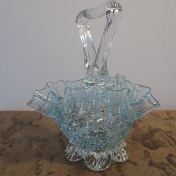 Small Glass Basket - Art Glass