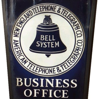 New England Telephone & Telegraph Co. Rectangle Business Office Sign no Brakcet