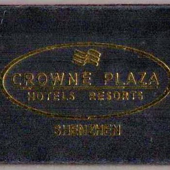 2002 - Crowne Plaza Hotel Shenzhen, China - Matchbox - Tobacciana