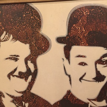 Laurel and Hardy painting by Taogaea - Fine Art