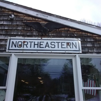 Northeastern porcelain sign College or Railroad??? - Railroadiana