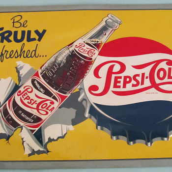 PEPSI-COLA 1950'S SIGN, DIFFERENT! - Advertising