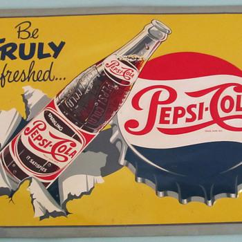 PEPSI-COLA 1950'S SIGN, DIFFERENT!