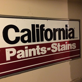 California Paints Sign