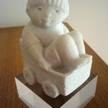 MARBELL BELGIAN BOY IN BILLY CART - Figurines