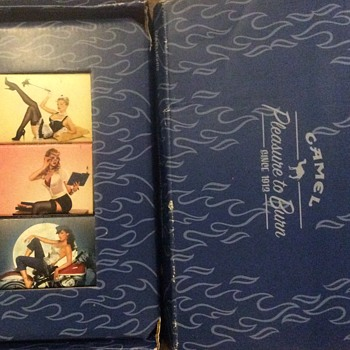 Camel Match Box Set of Three with Different Ladies on the Covers (Siting on a Motorcycle, Maid Lingerie, Reading a Book