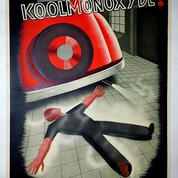 "Original Dutch ""Koolmonoxyde"" Offset Lithograph Poster"