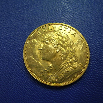 HELVETIA Gold Coin... - World Coins