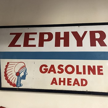 Zephyr gas station sign 7ft  - Signs