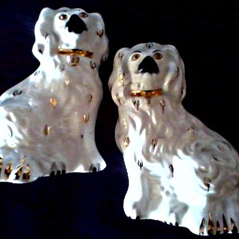 """Beswick"" Pottery England /6 "" Staffordshire King Charles Spaniel Mantel Dogs/Circa 1950's - Figurines"