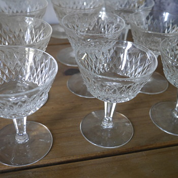 Cut Glass Small Glassware Set of 12