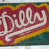 Dilly Soda Sign Thin Tin