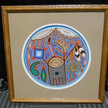 Huichol Art,  Yarn Paintings, Nayarit Mexico, Ramiro Lopez Gonzalez, 20 Century - Fine Art