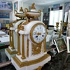 French 18th Century Marble & Bronze Clock