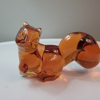 Fostoria Glass squirrel  - Animals