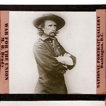 war for the union Matthew Brady lantern slide.