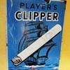 Super Player's CLIPPER Cigarettes enamel porcelain sign 1930s