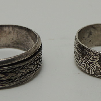 2 Interesting Sterling Silver Bands - Fine Jewelry