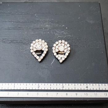 Rhinestone Shoe Clips - Costume Jewelry