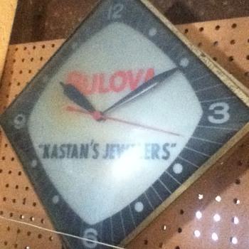 Vintage Bulova Adverstising Clock - Clocks
