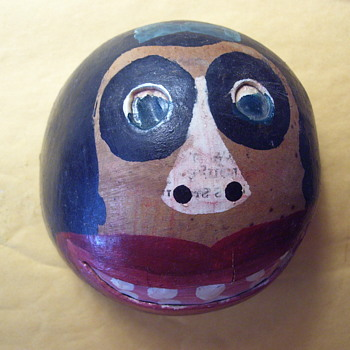SCAREY SANTO DOMINGO NATIVE ART, VOODOO MONKEY?-ARTIST SIGNED. - Folk Art