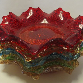 "Sowerby Pressed Glass - pattern 2266 ""Chunky"" - Glassware"