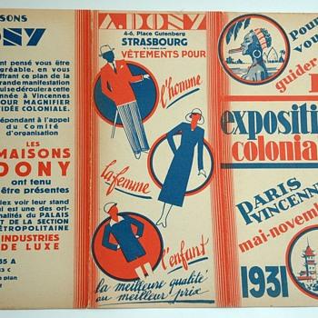 artdeco colonial exhibition paris 1931 map. - Advertising