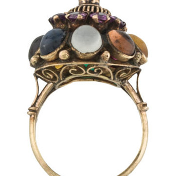 Early 19th century cluster ring - acrostic?