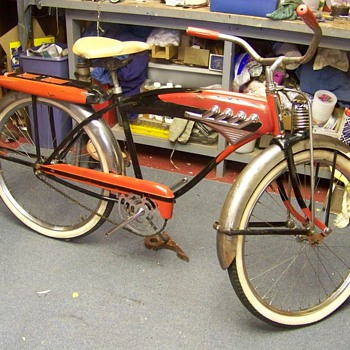 J C Higgins Manifold Tank Bike - Sporting Goods